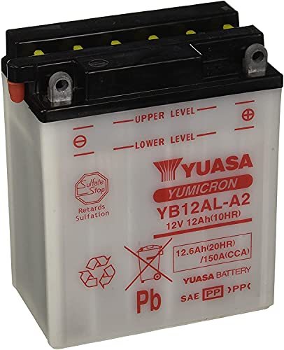 YUASA BATERIA YB12AL-A abierto - sin ácido