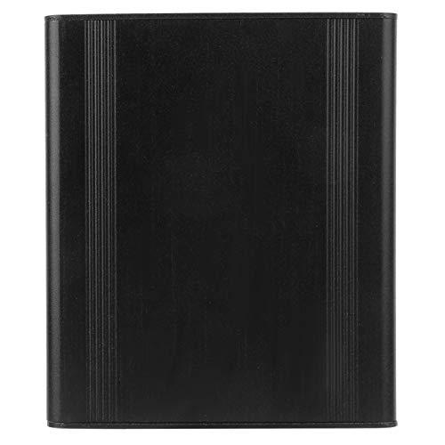 Jeanoko Caja de enfriamiento Negro Mate 38 x 88 x 100 mm Disipación de Calor rápida Caja de Proyecto de Aluminio para Bricolaje para disipación de Calor