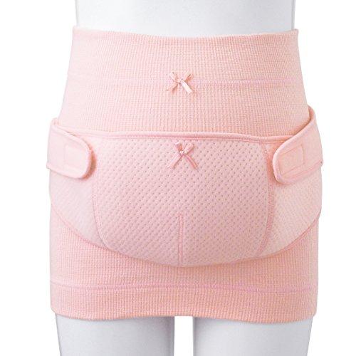 ピジョン)しっかりサポート妊婦帯&ささえ帯セット(ピンク) 【L−LL】