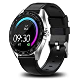 Smart Watches for Men Android Compatible with iPhone, Fitness Tracker with Heart Rate Sleep Monitor, Maxtop Activity Tracker with 1.3' Touch Screen, IP67 Waterproof Smartwatch for Women Men(Silver)