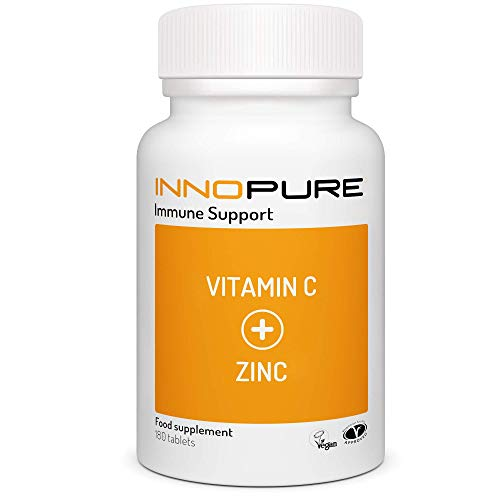 Vitamin C & Zinc High Strength 180 Tablets - Dual Action Immune System Support - Made in The UK by Innopure