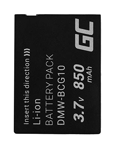 Green Cell® DMW-BCG10 DMW-BCG10E Kamera-Akku für Panasonic Lumix DMC-3D1 TZ6 TZ7 TZ8 TZ10 TZ18 TZ25 TZ31 TZ36 ZR1 ZR3 ZS1 ZS20 ZX1 ZX3 Leica V-Lux 20 30 40, Full Decoded (850mAh 3.7V Schwarz)