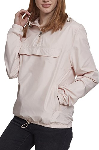 Urban Classics Damen Übergangs-Jacke Ladies Basic Pull-Over Jacket ,light pink ,S
