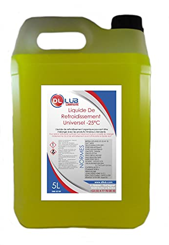 DLLUB - Liquide de refroidissement -25°C - 5 litres