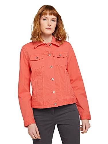 Tom Tailor 1024470 Basic Chaqueta de Jean, Rojo, S para Mujer