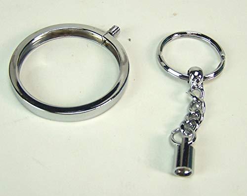 Unbekannt Schlüsselanhänger für Poker Chip aus Metall. Silberfarbig. Casino Poker Chip
