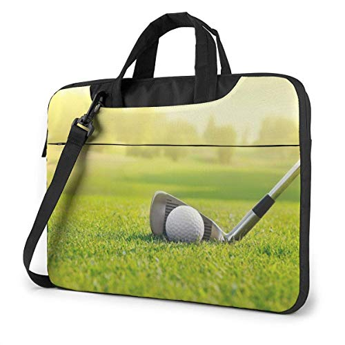 Laptop Shoulder Bag Carrying Laptop Case 15.6 Inch, Golf Grass Computer Sleeve Cover with Handle, Business Briefcase Protective Bag for Ultrabook, MacBook, Asus, Samsung, Sony, Notebook