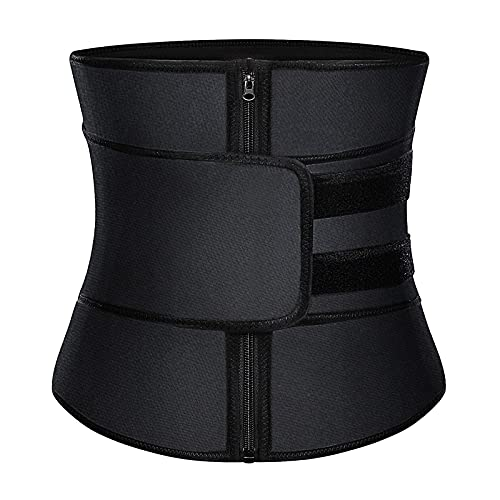 HOPLYNN Neoprene Waist Trainer for Women Slimming Body Shaper Waist Trimmer Cincher Belt Sweat Sports Girdle Black M