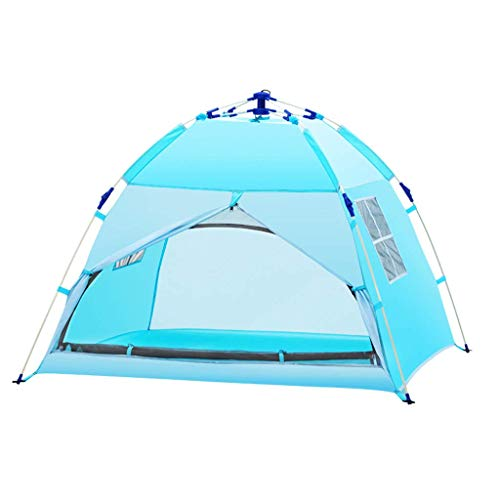 qiuqiu Small Automatic Portable Tent, Outdoor Camping Waterproof Tent, Pink/blue, 120×120×100CM, Used For Camping And Playing