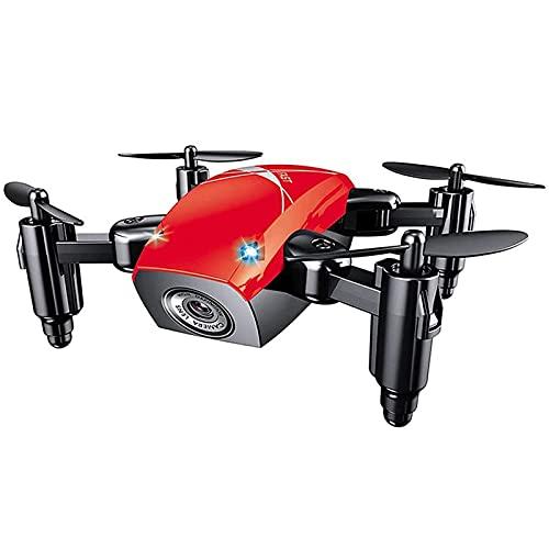 Mini Drone con Fotocamera, Quadricottero WiFi FPV RC con Fotocamera HD, Drone Tascabile Selfie per Bambini e Principianti, Drone Pieghevole con Mantenimento dell'Altitudine, Modalità Headless, Blu