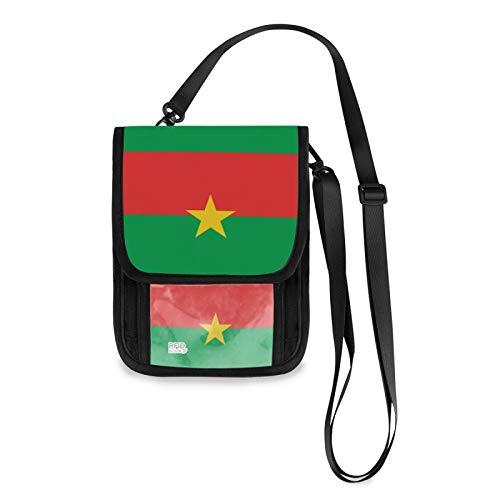 Burkina Faso - Bolso bandolera para teléfono celular, bloqueo RFID, con ranuras para tarjetas de crédito