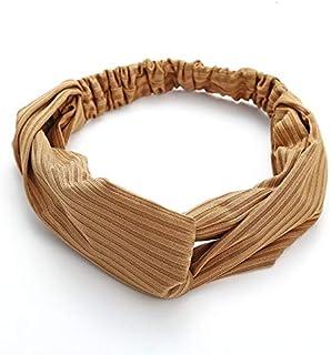 Hair band Fashion Plaid Knot Turban Elastic Hairband Yoga Sport Dance Head Wrap Stretch Stripes Women Hair Accessorie MJZC...