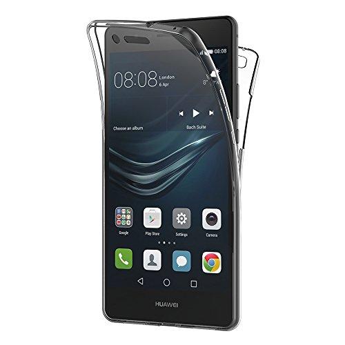 AICEK Cover Huawei P9 Lite, 360° Full Body Cover Huawei P9 Lite Silicone Case Molle di TPU Trasparente Sottile Custodia per Huawei P9 Lite (5.2 Pollici)