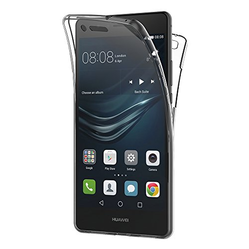 AICEK Funda Huawei P9 Lite, Transparente Silicona 360°Full Body Fundas para Huawei P9 Lite Carcasa Silicona Funda Case (5.2')