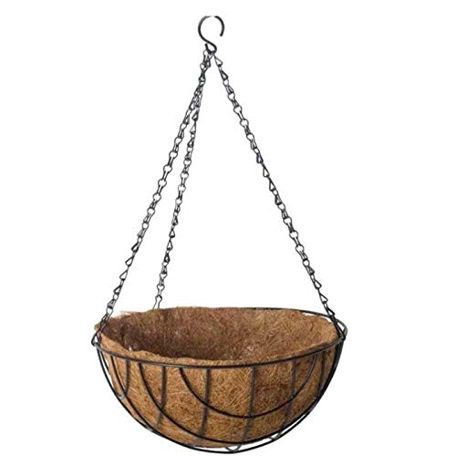 La Bolata Macetero Colgante de Coco y Metal 30 cm diámetro