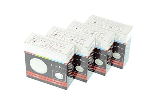 4x LED GX53 DOWNLIGHTER 7 Watt 650 Lumen LUMIXON IC Driver Flimmerfrei (3000K Warmweiß)
