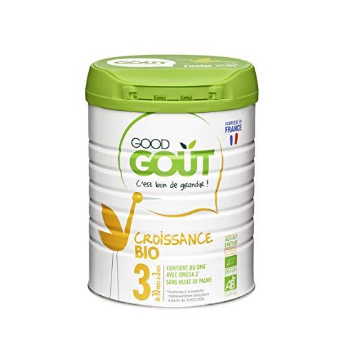 Good Goût - BIO - Lait de Croissance 3eme age de 10 Mois à 3 ans 800 g