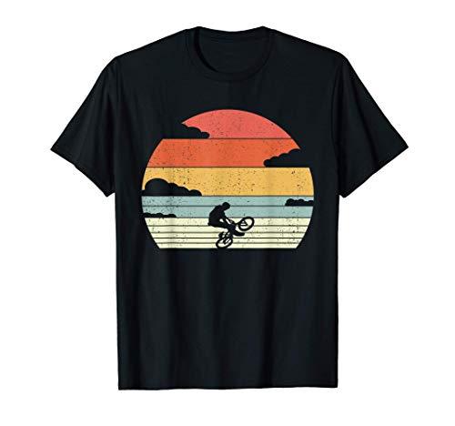 Retro BMX Bicicleta - Motociclista De Estilo Libre Maglietta