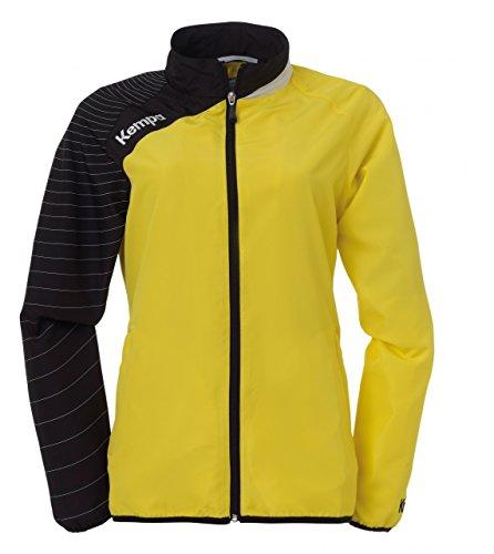 Kempa Circle Präsentationsjacke Trainingsjacke gelb Damen M-XXL limonengelb-schwarz, XXL (44)