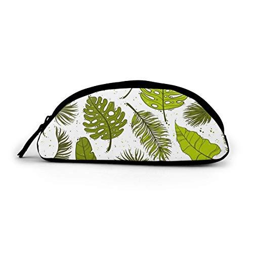 Lacenoon - Estuche para lápices con cierre de hojas de palmera, bolsa de cosméticos