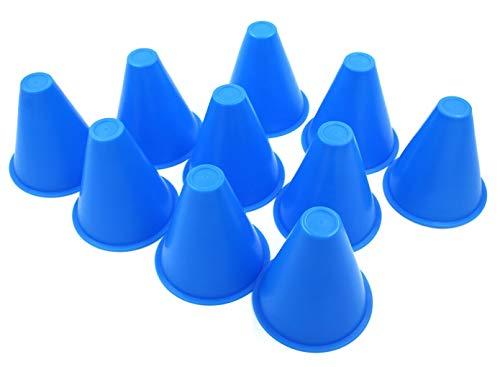 XPdesign 高弾性 カラーコーン ミニ マーカーコーン ミニカラーコーン ミニコーン サッカー コーン マーカー 高さ75mm (ブルー20個k)