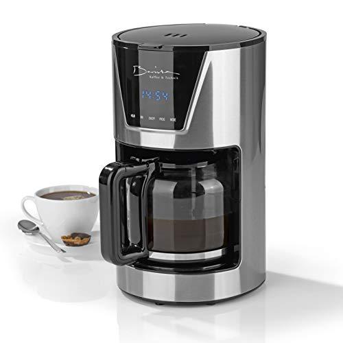 Barista koffiezetapparaat van roestvrij staal, met touch-display en timerfunctie, incl. 1,5 liter glazen kan voor maximaal 12 kopjes [900 watt]