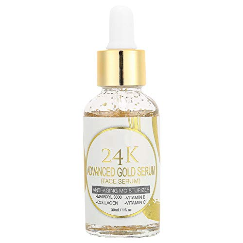 30ml 24k Gold Face Serum, áCido HialuróNico Hidratante Concentrado Facial Serum Anti-Envejecimiento Serum Foil Para Rostro, HialuróNico Hidratante Y Anti-Envejecimiento Cuidado De La Piel Facial