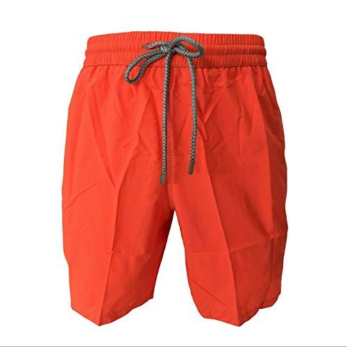 Zeybra Kostüm Herren Boxer-Shorts Einfarbig Orange Fluo Mod AUB001 100% Polyamid Made IN Italy - Orange Fluo, 58