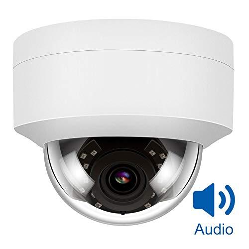Anpviz 5MP PoE CCTV IP-Kamera mit eingebautem Mikrofon, IP-Überwachungskamera, Nachtsicht bis 20-30 m, wetterfest gemäß IP66, 2,8 mm Weitwinkelobjektiv, Bewegungserkennung RTSP