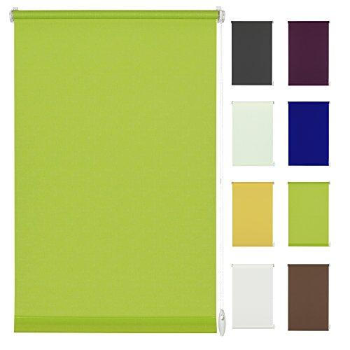 Seitenzug-Rollo Ohne Bohren Easy-Fix Klemmfix (140 x 150 cm, hellgrün)
