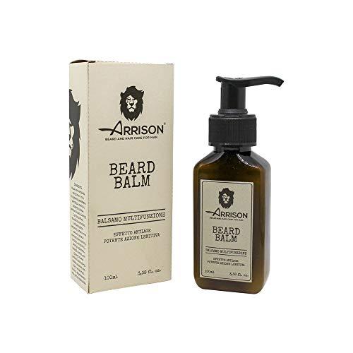 ☆ARRISON® BEARD ☆ Balsamo barba 100ml - Beard Balm 100% Made In Italy - Ammorbidisce, Nutre e Disciplina tutti i tipi Barba - Ottimo come After Shave e Idratante per il Viso