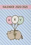 Pusheen 17-Monats-Kalenderbuch A5 -Taschenkalender 2021 mit Wochenkalendarium - gebunden mit flexiblem Einband - Format 15,2 x 21,5 cm: 17 Monate. Von August 2020 bis Dezember 2021