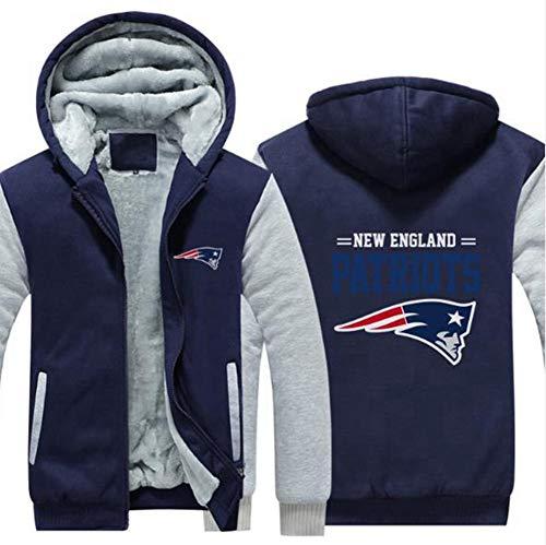 Hoodie NFL American Football New England Patriots Jersey Pullover Plus Velvet Rugby T-Shirt Mit Langen Ärmeln Drucken Hemd Mit Kapuze Beiläufige Bequeme Thick Pullover,B,M