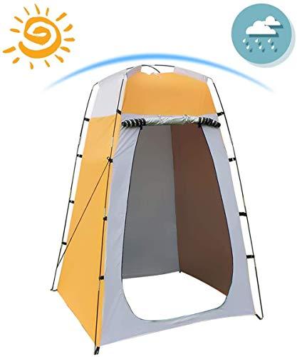 AHPONEX Camping Duschzelt tragbares Wickelzelt Außentoilettenzelt, 120 * 120 * 180 cm, einschließlich Zeltpflock, Stange, Seil, Aufbewahrungstasche