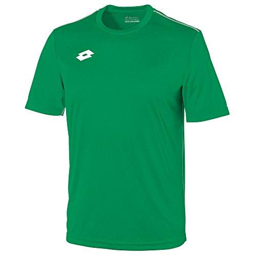 Lotto - Camiseta de Manga Corta Modelo Delta Unisex para niño (XL) (Verde)