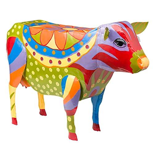 LGLG Decoración de resina de animales, mesa auxiliar, mesa de café, arte popular multicolor, muebles de terraza, estatuas de resina animal (B)