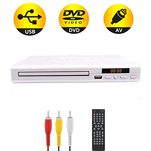 Save %23 Now! DVD Player for TV, Compact Small Size Home DVD Player with Remote Control and LED Disp...