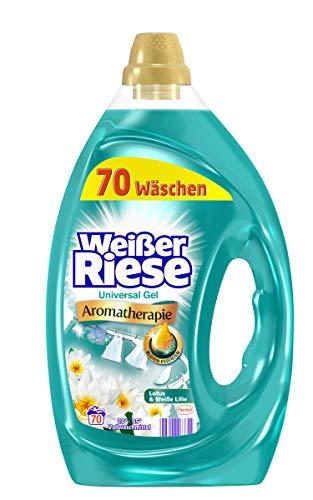 Weißer Riese Universal Gel, Aromatherapie Lotus & Weiße Lilie, Flüssigwaschmittel, 140 (2 x 70) Waschladungen, Riesen Duft Erlebnis