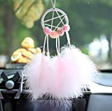 Alger Accessoires de voiture de mode plume attrape-rêves de voiture pendentif plume attrape-rêves de voiture rétroviseur pendentif décoration de la maison accessoires