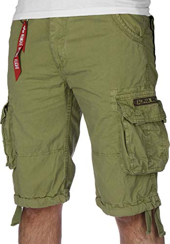 Alpha Industries Herren Shorts Jet Khaki W 36