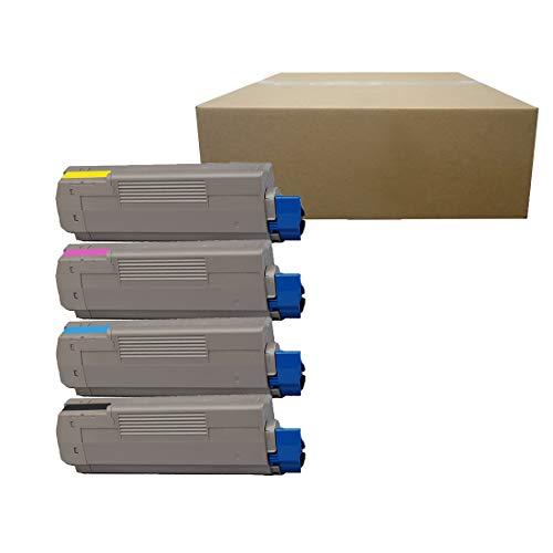 Inktoneram Compatible Toner Cartridges Replacement for Okidata C610 C610cdn C610dn C610dtn C610n 44315304 44315303 44315302 44315301 ([Black,Cyan, Magenta, Yellow], 4-Pack)