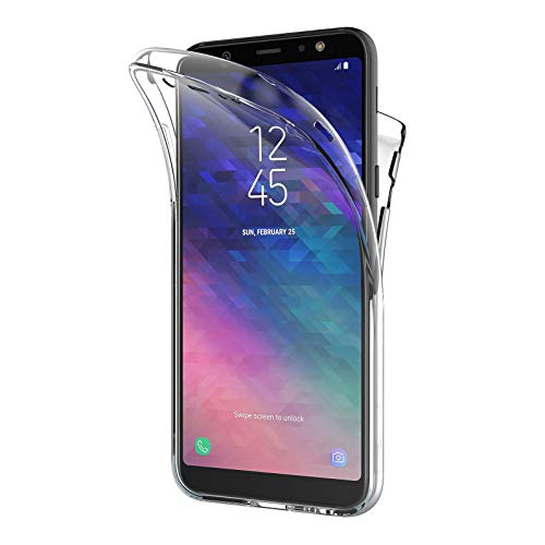 AICEK Samsung Galaxy A6 2018 Hülle, 360°Full Body Transparent Silikon Schutzhülle für Samsung A6 2018 Case Durchsichtige TPU Bumper Galaxy A6 2018 Handyhülle (5,6 Zoll)