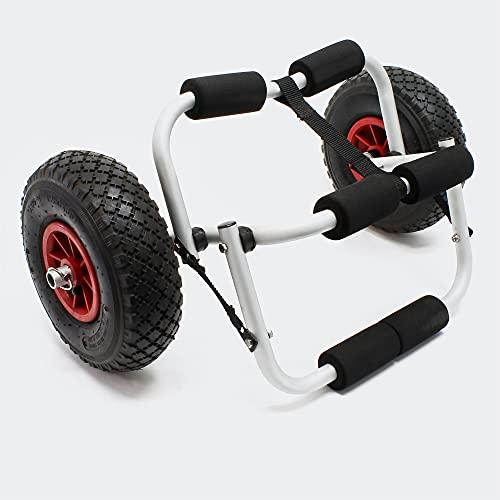 WilTec Chariot de Transport Pliant Alu jusqu'à 45 kg pour Bateaux canoë ou Kayak