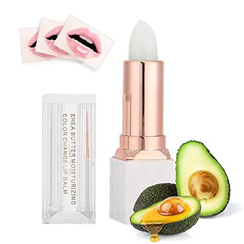 Burro di Karitè Moisturizing Color Changing Lip Balm Gloss Lip Care Long Lasting Lipstick, Rossetto Cambia Colore, Lip Balm Volumizzante, Idratare Temperatura Cambiamento di Colore, 3.5g