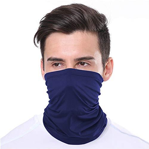 KUNSTIFY | Multifunktionstuch Mundschutz | Bandana Herren Damen Schlauchschal Halstuch Trend Maske aus Baumwolle Navy kapitänblau | elastisch atmungsaktiv waschbar (Nachtblau)