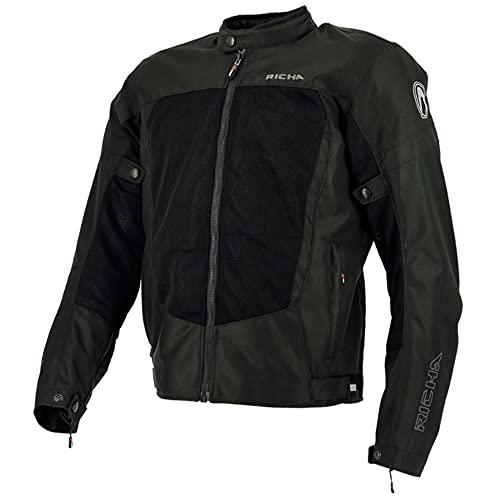 Richa Motorradjacke mit Protektoren Motorrad Jacke Airbender Textiljacke schwarz M, Herren, Tourer, Ganzjährig