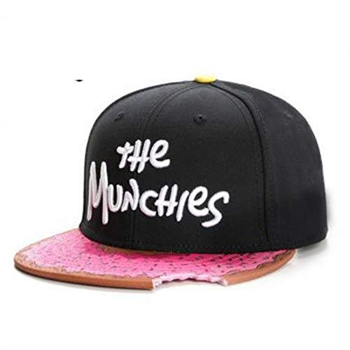 Fnito Baseball Cap Munchies Cap Snacks Hysteresenhut Männer Frauen Erwachsene Hip Hop Headwear Outdoor Casual Sun Baseball Cap Knochen
