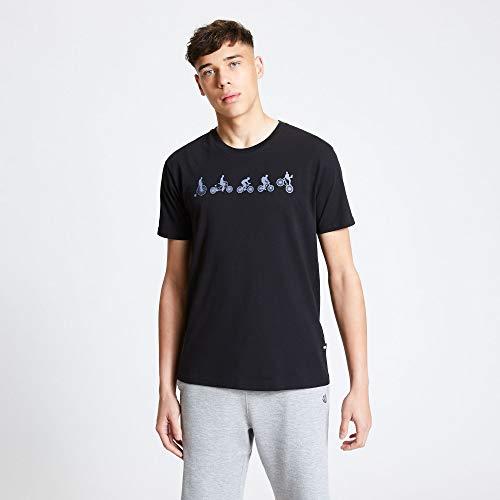 Dare2b Heren DMT520 80060 Integreer 'Ademend Katoen Grafische Print Casual T-shirt met korte mouwen/Polos/Vests, Zwart, Medium