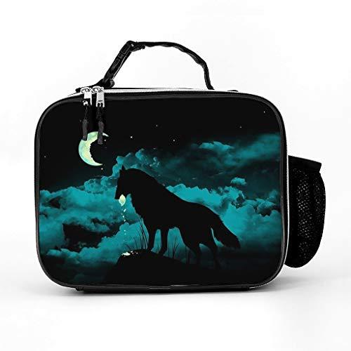 Cool Laptop Sleeve Wolf Eats Moon Full Printed Tablet Sleeves Slim Neoprene Notebook Bag for Teen Students White one Size