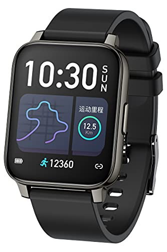 Reloj de fitness para mujer, reloj inteligente para hombre, presión arterial, pulsómetro, reloj deportivo, monitor de sueño, podómetro, resistente al agua, reloj de pulsera inteligente, iOS, Android